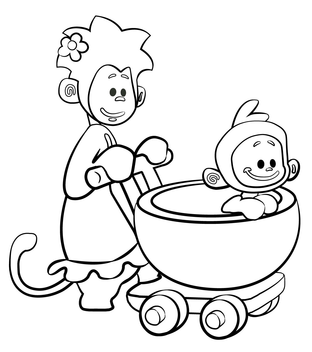 Black and white image for colouring