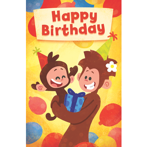 General birthday card yellow